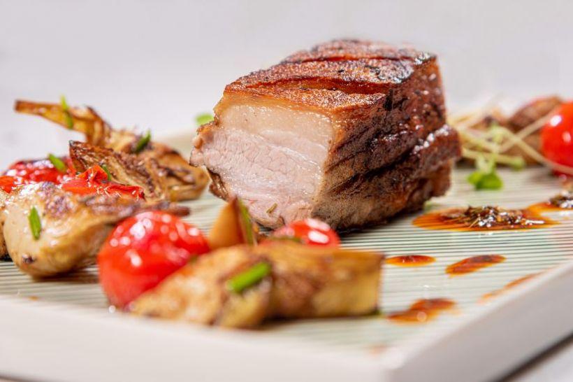 Supă cremă de broccoli cu bacon crocant