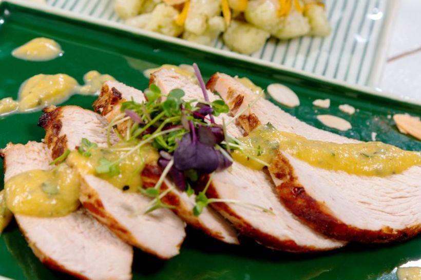Tocăniță de ciuperci cu lapte de cocos, mămăliguță
