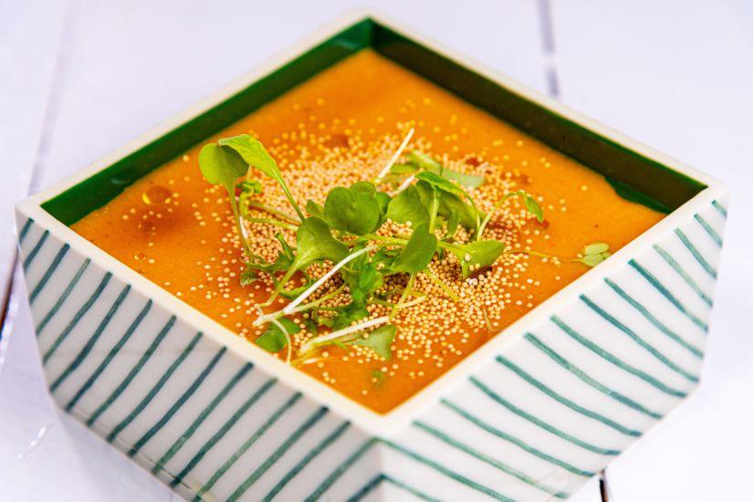 Supă cremă de legume cu amaranth