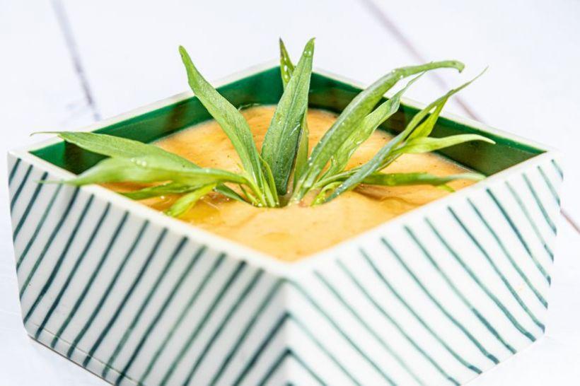 Ciorbă de legume cu pâine integrală cu semințe si maia